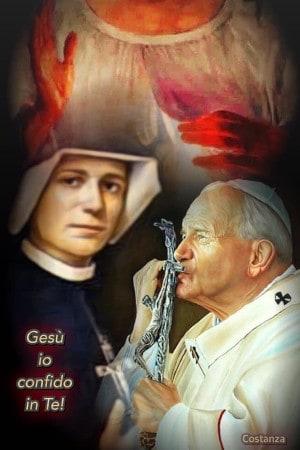 S. Giovanni Paolo II e S. Faustina: Apostoli della Misericordia